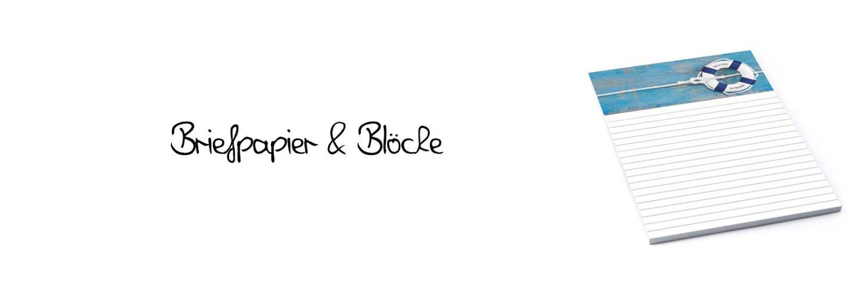 Briefpapier und Blöcke