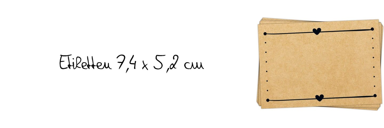 Etiketten 7,4 x 5,2 cm