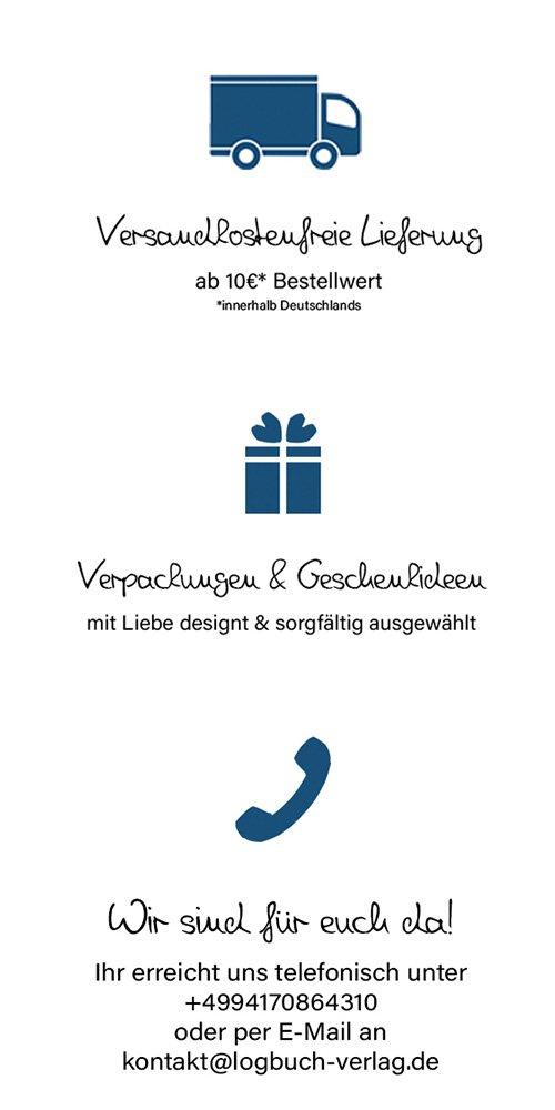 Kontaktinformationen Logbuch-Verlag, Onlineshop für Geschenkartikel und Verpackungen