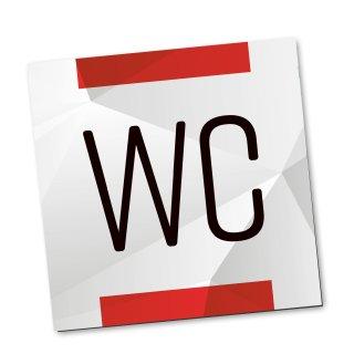 WC-Schild neutral rot grau - Toiletten-Schild Tür-Schild für  Büro Praxis Kanzlei Personaltoilette