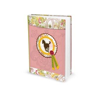Kleines Notizbuch Tagebuch PFERD für Mädchen - DIN A5 Hardcover mit leeren Seiten