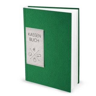 Ordnungsgemäßes Kassenbuch DIN A4 Hardcover - Übersicht Finanzen Ausgaben Einnahmen - grün