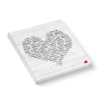 Hochzeitsgästebuch schwarz rot weiß 21 x 21 cm mit Herz - Gästebuch mit leeren Seiten