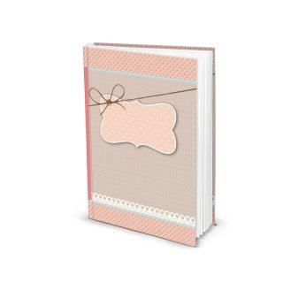 Kleines Notizbuch rosa blanko DIN A5 mit Cover zum Beschriften - Buch zum Selberschreiben
