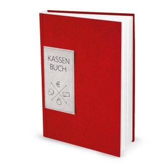 Ordnungsgemäßes Kassenbuch DIN A4 Hardcover - Übersicht Finanzen Ausgaben Einnahmen - rot