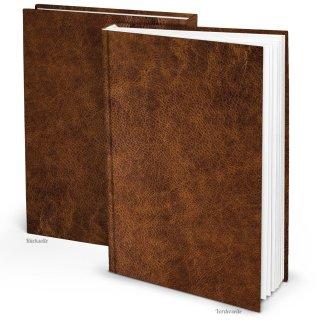Großes XXL Notizbuch DIN A4 in Lederoptik braun - leeres Buch im Nostalgie-Look