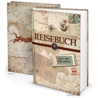 XXL Reisetagebuch Reisebuch DIN A4 Notizbuch mit leeren Seiten - Geschenk