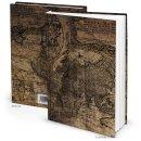Kleines Notizbuch Reisebuch vintage braun DIN A5 ALTE...