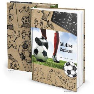 Fußball Geschenkbuch Notizbuch MEINE SAISON - Fußballbuch DIN A5 zum Einschreiben