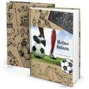Fußball Geschenkbuch Notizbuch MEINE SAISON -...