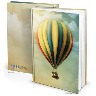 Großes XXL Notizbuch DIN A4 mit leeren Seiten Hardcover - Heißluftballon bunt