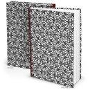 XXL Notizbuch DIN A4 Hardcover schwarz weiß mit...