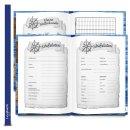 Logbuch Sailing DIN A4 blau braun Hardcover - Yachtlogbuch Schiffstagebuch zum Eintragen