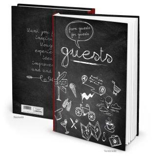 Gästebuch GUESTS international mit leeren Seiten - Buch für Ferienwohnung Pension Hotel DIN A4