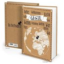 Gästebuch braun schwarz weiß DIN A4 Hardcover...