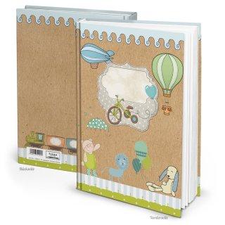 Kinderbuchtagebuch Babytagebuch DIN A4 zum Einschreiben - Motiv Teddybär Löwe
