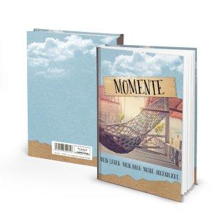 Notizbuch Reisebuch DIN A5 MOMENTE - Hängematte Reisetagebuch mit leeren Seiten