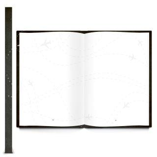 Großes Reisetagebuch DIN A4 schwarz rot weiß - Urlaubstagebuch Tafelkreide-Optik