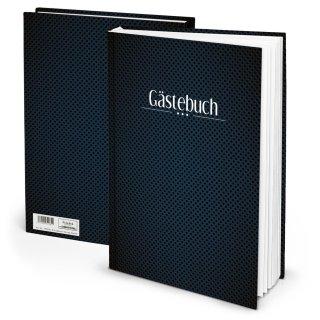 Edles Gästebuch DIN A4 klassisch dunkelblau schwarz - Geburtstag Hochzeit Behörde