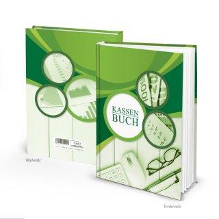 Ordnungsgemäßes Kassenbuch Hardcover DIN A5 grün - Kassenabrechnungsbuch Firma Verein
