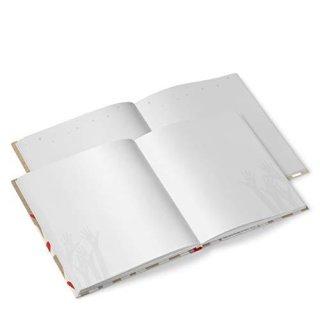 Freundebuch mit leeren Seiten MENSCHEN DIE MEIN LEBEN BEGLEITEN 21 x 21 cm