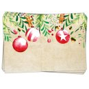 25 kleine Weihnachtsaufkleber 7 x 5 cm rot grün...