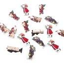 16 Retro Weihnachtsklammern 4,5 cm mit Weihnachtsmotiven...