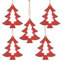 5 Christbaumanhänger zu Weihnachten - Baum aus...
