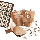 24 kleine DIY Adventskalender Papiertüten zum...