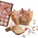 24 Adventskalender Papiertüten z. Befüllen Set...