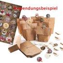 1-24 Nummern zum Adventskalender basteln: Aufkleber +...