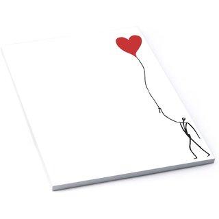 Briefpapier Block - Briefblock DIN A4 50 Blatt mit 120 g / m² - weiß schwarz mit Herz
