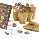 24 DIY Adventskalender Tüten zum Befüllen + Klammern + Adventskalenderzahlen - Weihnachtskalender selber machen