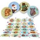 24 DIY Adventskalendertüten für Kinder zum Befüllen - Tier Aufkleber mit Zahlen 1-24 - Adventskalender selber machen