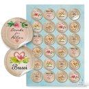 Sticker SET mit 5 x 24 bunten Aufklebern - Sprüche Statements gute Wünsche - Geschenkaufkleber