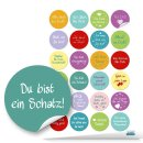 Sticker SET - 142 Aufkleber Sprüche Worte Zitate Liebe Motivation - Geschenkaufkleber 2020