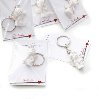 10 kleine Geschenke - weiße Schutzengel mit Karte Ein kleines Dankeschön