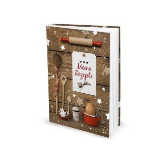 DIN A5 Rezeptbuch MEINE REZEPTE mit leeren Seiten für Weihnachtsplätzchen - Geschenk Weihnachten