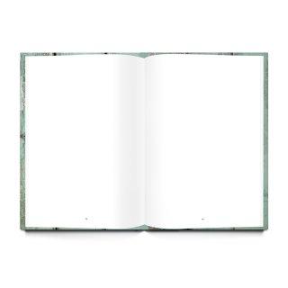 XXL Rezeptbuch mit leeren Seiten - eigenes Kochbuch - grün silber Shabby Chic Hardcover DIN A4