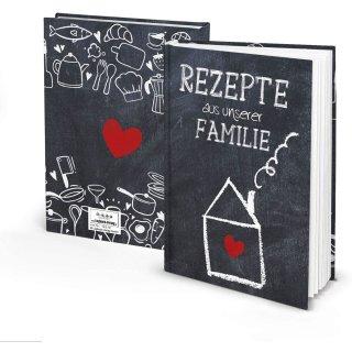 Familienrezepte Buch zum Selberschreiben REZEPTE AUS UNSERER FAMILIE DIN A5 - leeres Rezeptbuch