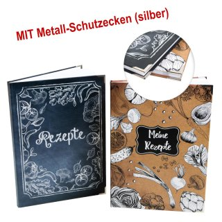 Rezeptbücher Set zum Selberschreiben & Gestalten DIN A4 Kochbücher leer