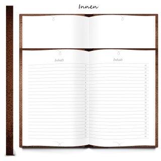 Rezeptbuch DIN A5 MEINE REZEPTE braun in Lederoptik - Vintage Kochbuch Blankobuch zum Selberschreiben