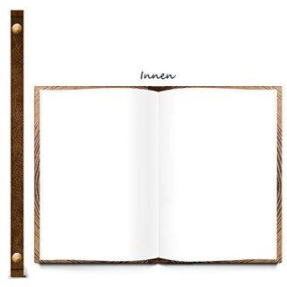 XXL A4 Notizbuch blanko mit leeren Seiten dunkelbraun JAHRESRINGE Holz - Skizzenbuch