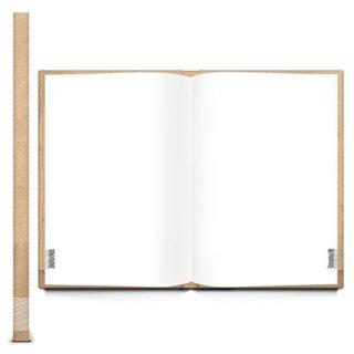 Großes Blanko Notizbuch DIN A4 beige braun NOTES - Tagebuch Ideenbuch mit Metallecken