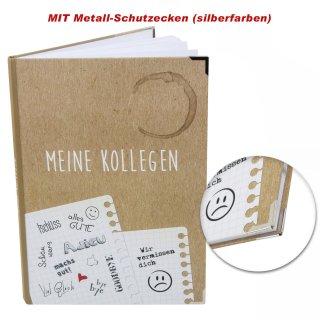 Kollegenbuch DIN A4 zum Eintragen - Abschiedsbuch für Kollegen - Hardcover mit Metallecken