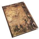 Großes Notizbuch liniert DIN A4 braun im Vintage...