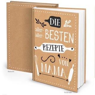 Rezeptbuch REZEPTE VON MAMA - DIN A4 leeres Buch zum Selberschreiben als Geschenk für Kinder - Familienrezepte