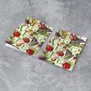Rezeptmappe VEGGIE für vegetarische Gerichte Gemüse bunt - Rezeptordner DIN A4 Mappe zum Sammeln von Rezepten