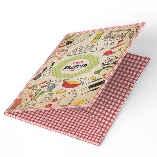 Rezeptmappe MEINE REZEPTE DIN A4 bunt zum Selberschreiben Kochrezepte sammeln