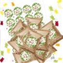 24 kleine Gummibärchen Tütchen Viel Glück...